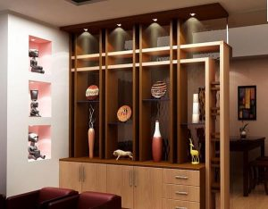 Thiết kế phòng khách và bếp đẹp mắt với vách ngăn