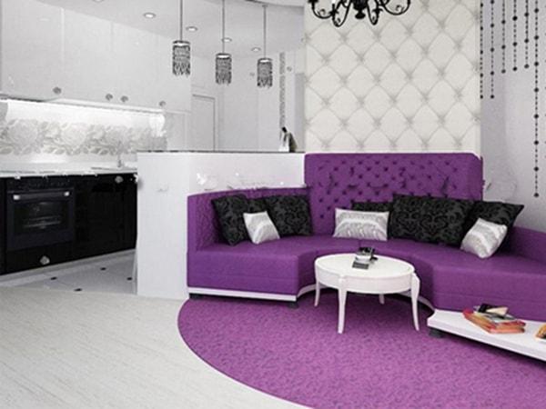 Ứng dụng khéo léo của vách ngăn thạch cao trong phòng khách