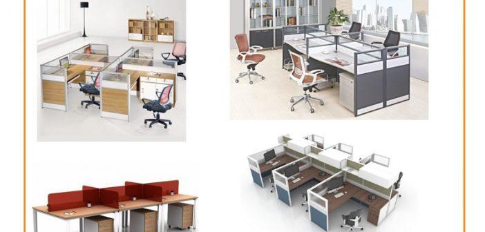 4 loại kích thước phổ biến của vách ngăn văn phòng