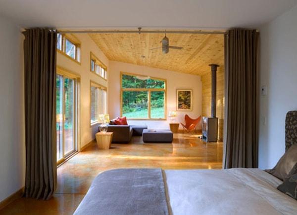 Thiết kế vách ngăn đẹp trong phòng ngủ
