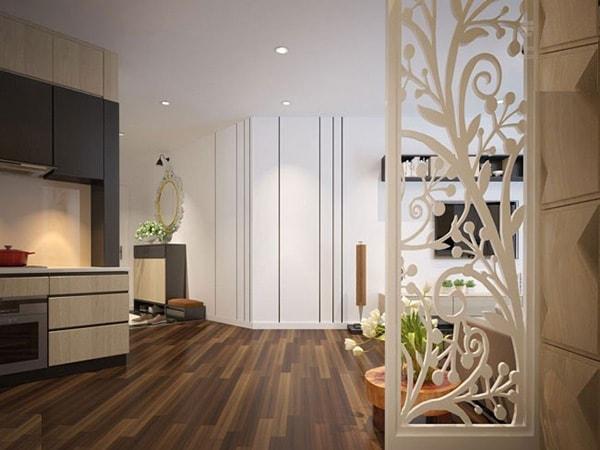 Trang trí căn hộ chung cư đẹp mắt với vách ngăn