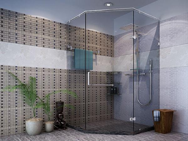 Cách sử dụng vách tắm kính vát góc