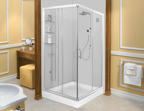 Vách ngăn kính nhà tắm nên chọn loại kính cường lực vừa an toàn lại có độ bền cao