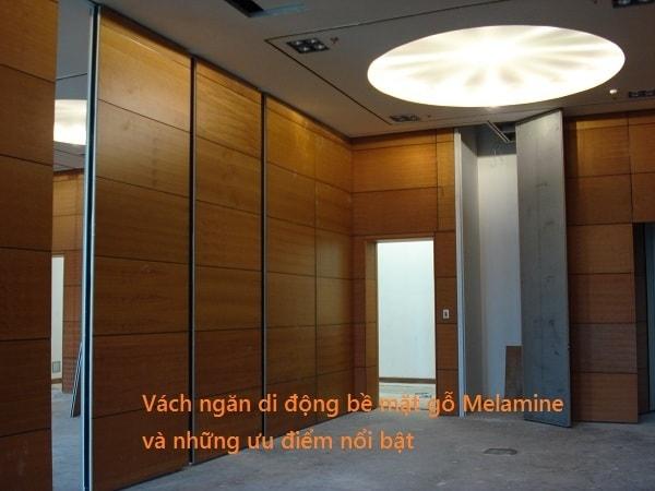 Vách ngăn di động bề mặt gỗ Melamine và những ưu điểm nổi bật