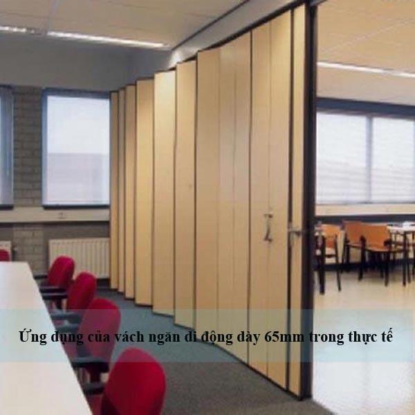 Vách ngăn di động dày 65mm có thể ứng dụng trong những văn phòng làm việc