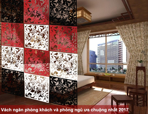 Các loại vách ngăn phòng khách và phòng ngủ được ưa chuộng nhất 2017