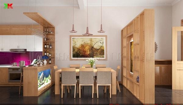 Những loại vách ngăn phòng khách và phòng ăn được ưa chuộng hiện nay