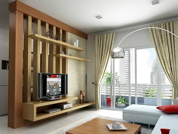 Phòng khách gia đình có thể sử dụng loại vách ngăn nào?