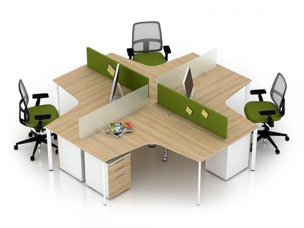Vách ngăn nỉ kính NK32 - Sự lựa chọn hoàn hảo cho văn phòng hiện đại