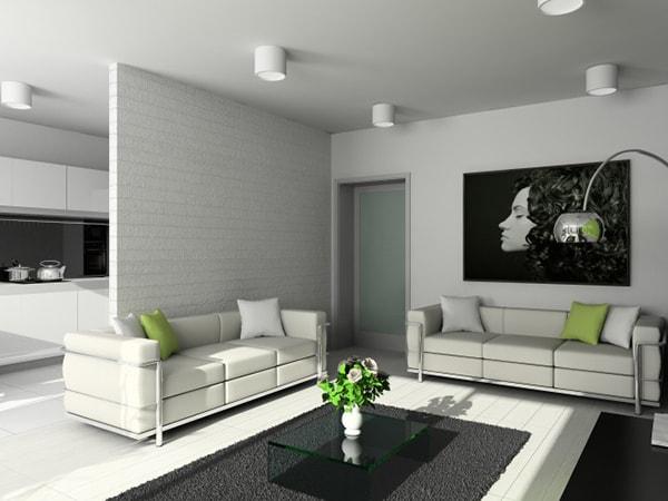 Vách ngăn phòng khách bằng thạch cao mang tính thẩm mỹ và sự sang trọng