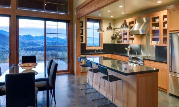 Kệ mở giúp tiết kiệm diện tích nhà bếp