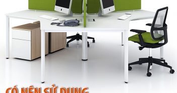 Có nên sử dụng bàn làm việc văn phòng có vách ngăn không?