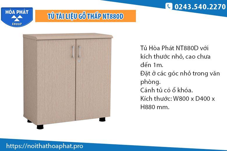 Tủ tài liệu gỗ thấp NT880D