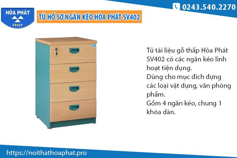 Tủ hồ sơ gỗ thấp SV402