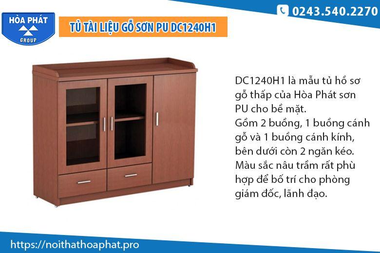 Tủ tài liệu thấp sơn PUDC1240H1
