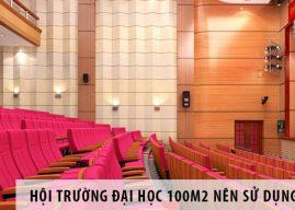 Hội trường đại học 100m2, sử dụng ghế hội trường nhập khẩu nào?