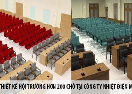 Thiết kế hội trường hơn 200 chỗ tại Công ty Nhiệt điện Mông Dương